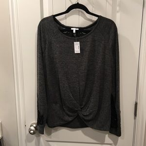 Grey w/ lace detail/ brand new/ very nice top